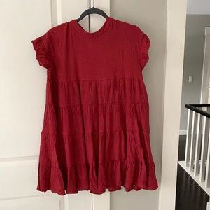 Dresses & Skirts - Red babydoll dress